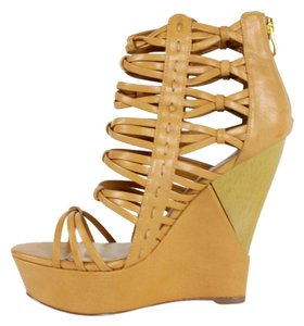 bebe Wedge Heel Tan Wedges