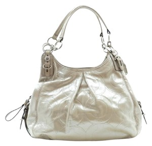 Coach Metallic Cream Shoulder Bag