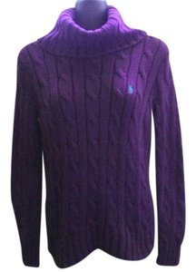 Ralph Lauren Blue Label Chunky Cable Knit Turtleneck Fall Sweater