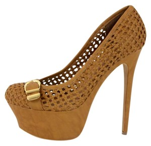 bebe High Heel Brown Platforms