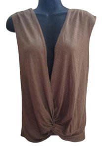 Urban Outfitters Wrap Knit Tan Summer Draped Top Light Brown