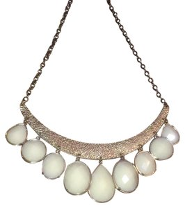 Francesca's Ivory/Gold Statement Bib