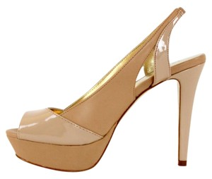 bebe High Heel Nude Platforms