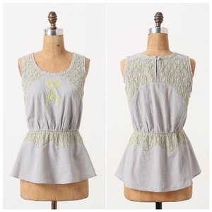 Anthropologie Hd In Paris Peplum Top Grey