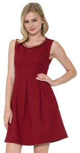 Esley short dress Burgundy on Tradesy