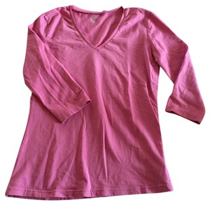 Gap V-neck Cotton T Shirt Purple