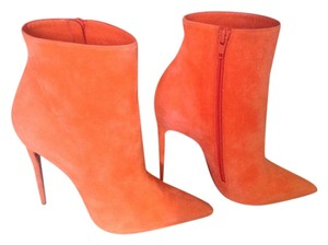 Christian Louboutin Orange Papaya Boots