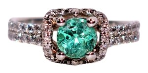 James Allen 1.25tcw Colombian Emerald & Diamond 18kt White Gold Ring