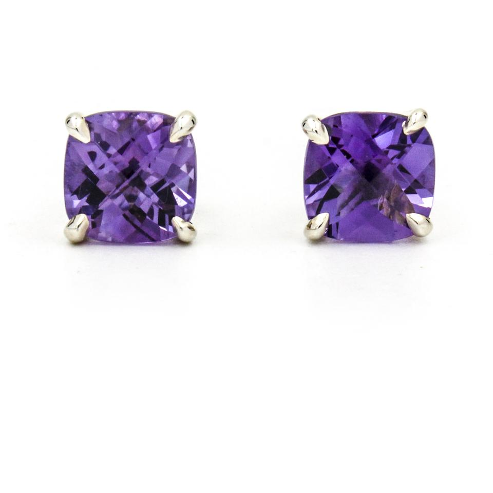 66f4869e3 Tiffany Co Purple Silver Sparklers Amethyst Stud Earrings Tradesy. Tiffany  Sparklers Drop Earrings In 18k Rose Gold With Amethysts And Diamonds
