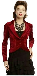 White House | Black Market Whbm Velvet Red Blazer