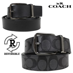 Coach Coach Thick Signature Reversible All in one Size Black/Charcoal Belt