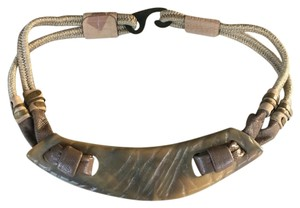 Anthropologie Vintage Stretch Horn Statement Belt