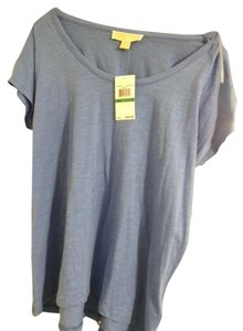 Michael Kors Nwt New With Tags Cap Sleeve T Shirt Oxford Blue