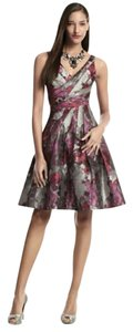 White House | Black Market Whbm Metallic Floral Jacquard Party Dress