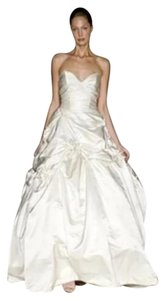 Monique Lhuillier Camelot Silk Duchesse Satin Silk Roses Sz 6/8 Ballgown Wedding Dress