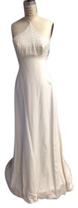 Tomasina Sexy Low Back Silk Crepe #1217 Wedding Dress
