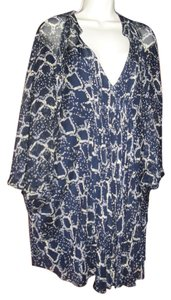 Diane von Furstenberg short dress dark blue & white on Tradesy