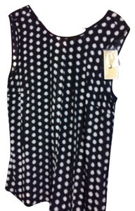 MICHAEL Michael Kors Top Navy with white spots