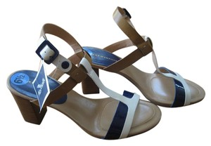 Tommy Hilfiger Tan, White, & Blue Sandals