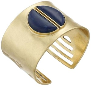 Lucky Brand NWT Gold-Tone Lapis Bold Cuff Bangle Bracelet