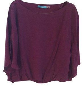 Alice + Olivia Top Maroon