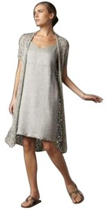 Eileen Fisher short dress Gray Silver Linen on Tradesy