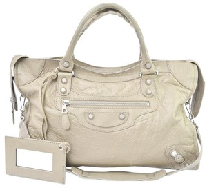 Balenciaga Giant City Beige Sand Satchel