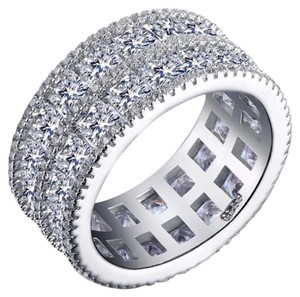 Other 8.5ct Double Princess Cut AAA CZ eternity Band