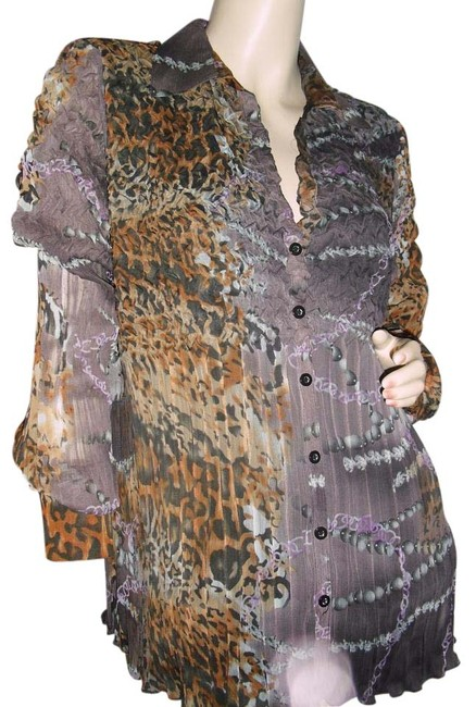Preload https://img-static.tradesy.com/item/20066081/coldwater-creek-gray-bronze-pleated-luxury-blouse-cheetah-leopard-print-button-down-top-size-14-l-0-1-650-650.jpg