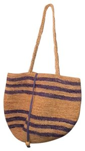 J.Crew Blue Striped Beach Bag