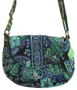 Vera Bradley Blue & Green Messenger Bag
