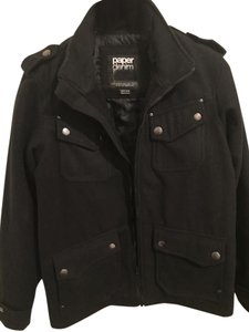 Paper Denim & Cloth 66% Polyester 34% Wool Military Jacket