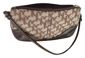 New York & Company Wristlet in Brown and Tan