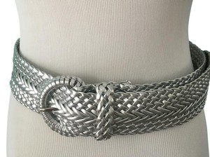 Other Wide silver woven woman's belt