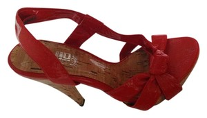 JLo Quality Material Shiny Leather Sole RED Platforms