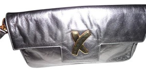 Paloma Picasso Wristlet in Metallic Pewter