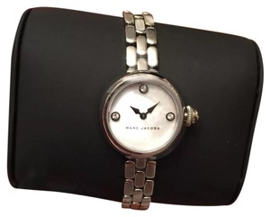 Marc Jacobs New Women's Marc Jacobs Courtney Silver Tone Mother of Pearl Dial Watch MJ3459