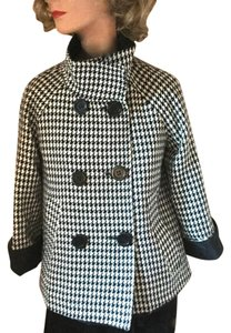 Jones New York Rain Reversible Houndstooth Vintage Style A-line Jacket