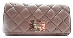 Michael Kors Michael Kors Astrid Carryall Quilted Leather Clutch Wallet Dark Taupe 198