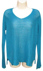 Eileen Fisher Open Knit Pullover Sweater