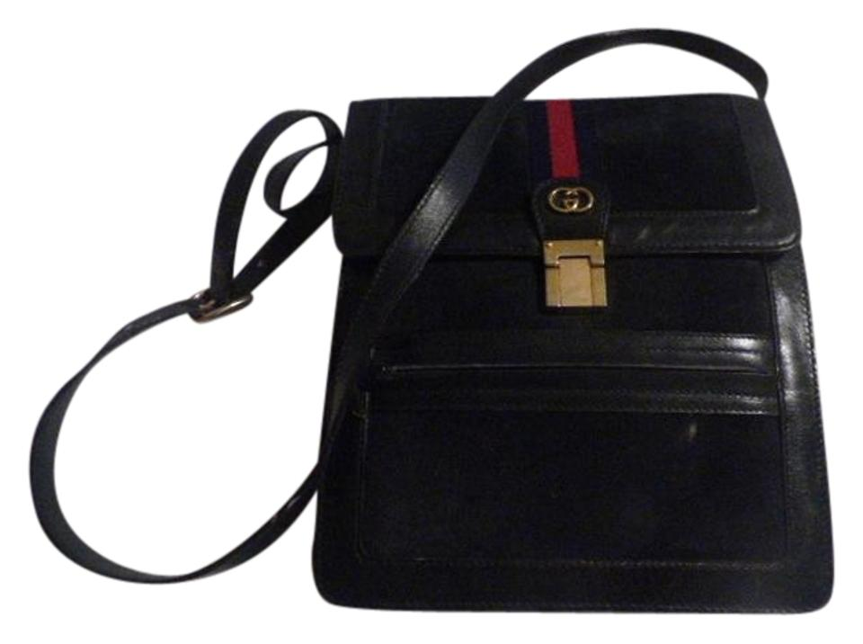 6adfaf50dc30 Gucci Multiple Compartment Great For Travel Mint Vintage Two Way Style  Sherry navy suede & leather ...