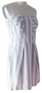 BCBGeneration short dress Ivory and Grey on Tradesy