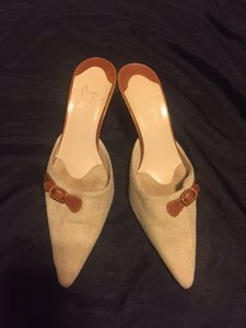 Christian Louboutin Beige Mules