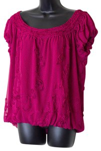 Studio M Size Xl Polka Dot Top Magenta
