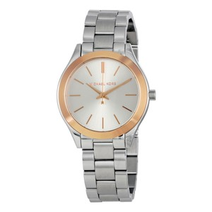 Michael Kors Rose Gold Silver Stainless Steel Designer Casual Watch