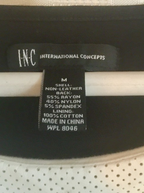 INC International Concepts Top White & Black Image 2