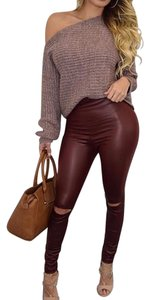 The Envy Collection Burgundy Leggings