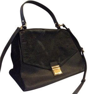 Badgley Mischka Satchel in Black, Gold