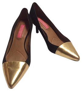 Isaac Mizrahi Black & Gold Pumps