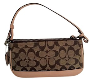 Coach Demi Pouch New Dust Cover Leather Tan Satchel in Tan/Brown